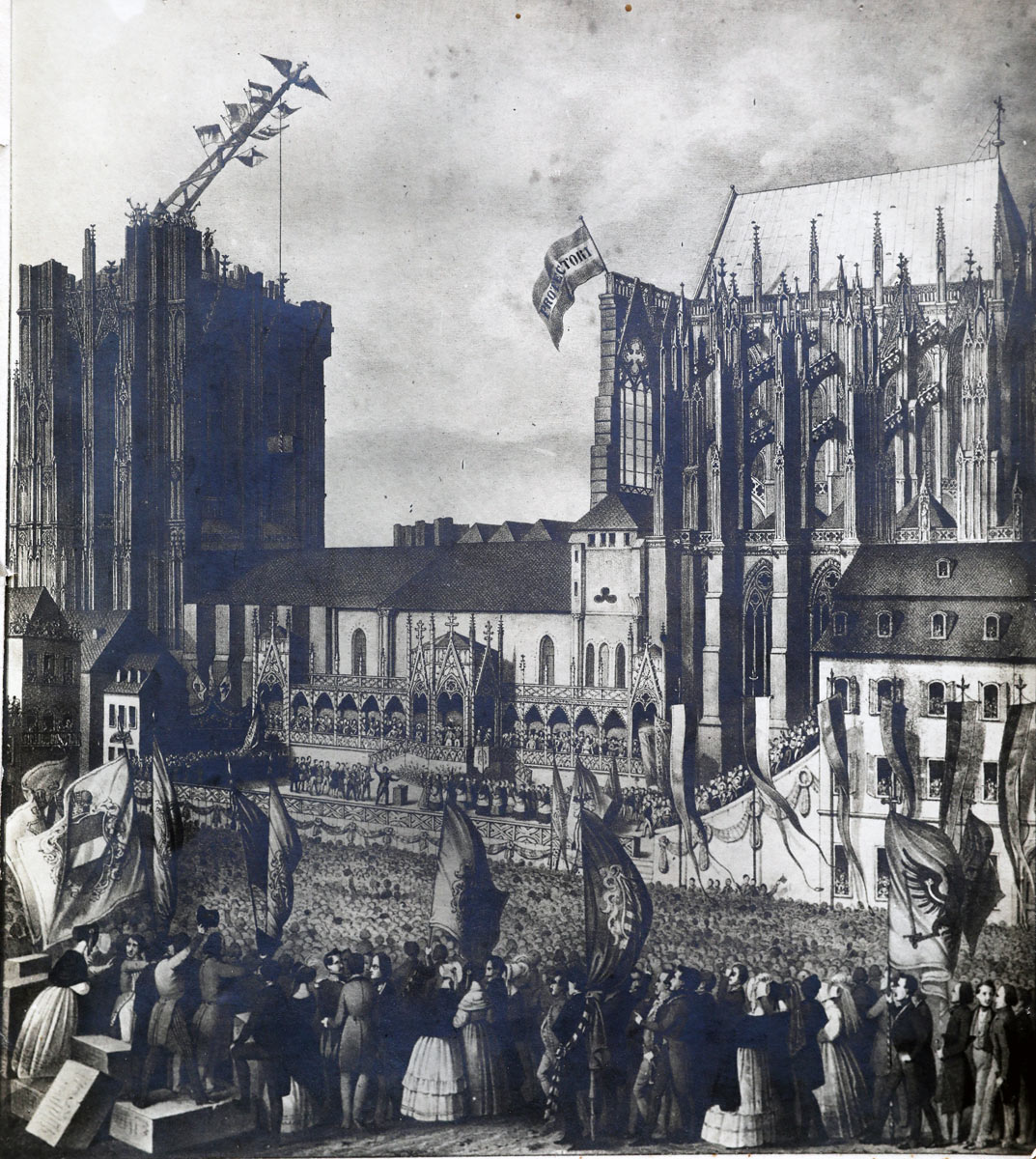 Kolner Dom Vor 175 Jahren Wurde Zum Zweiten Mal Der Grundstein Gelegt Erzbistum Koln